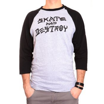 Skate And Destroy Raglan